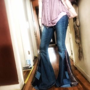 Free People Jeans - FREE PEOPLE BELL BOTTOM JEANS | restructured